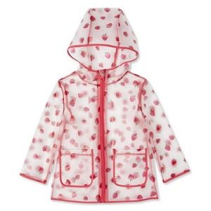 New Toddler Girls' Clear Rain Jacket - 5T